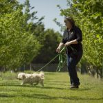 Karen Drummond and her Truffle dog, Ollie